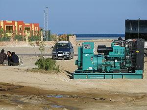 เครื่องกำเนิดไฟฟ้าขนาด 500 kVA ที่รีสอร์ท ในอียิปต์ (Egypt)